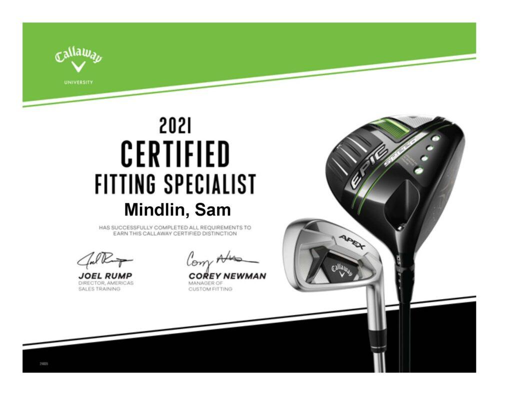 Callaway Certification - Fitting Specialist 2021